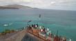 Nick Jacobsen Kiteboards Off Richard Bransons Island