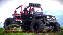 Tamiya CR-01 customized Jeep in Grison Creek offroad Attack!