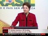 Dilma chora e pede um minuto de silêncio por crianças assassinadas