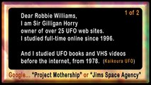 Robbie Williams UFOs Aliens Proof Evidence Research ★★★★★