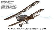 Royal Aircraft Factory S.E.5a RC Model Plan