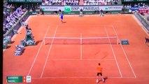 Tennis - L'échange incroyable du match de Tennis Rafael Nadal - Novak Djokovic