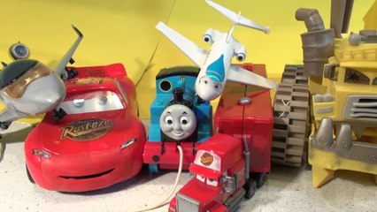 Pixar Cars and Thomas and Friends Crash Compilation Planes Trains and Cars Lightning McQueen Thomas and Screaming Banshee