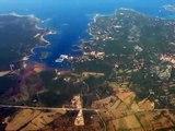 Corsica!! Corse!! A landing on Figari Sud Corse Airport!! Aéroport de Figari Sud corse!!