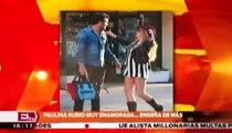 Paulina Rubio enseña de más mientras besaba a su novio / Joanna Vegabiestro