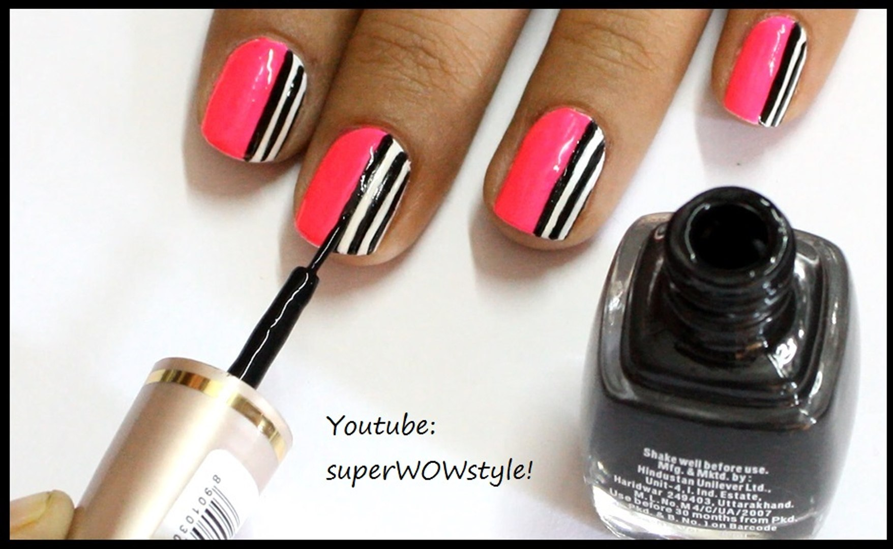 How To Make Nail Art Tools At Home Diy Nail Art Designs With Own Homemade Tools Eyeliner Brush Video Dailymotion