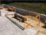 Portable Sawmill - Patented Track Set-up for Cutting Logs