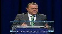 Prime Minister of Denmark, Lars Løkke Rasmussen speaks at Global Green Growth 2010