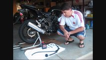 How to replace your rear braking system on a 2008 Kawasaki Ninja 250R