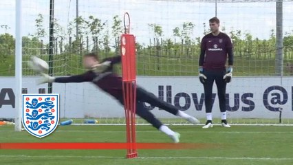 England Under 21s spectacular saves | Inside Training