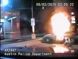 Arrestation violente  Il fait exploser sa voiture pendant son arrestation par la police