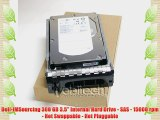 Dell-IMSourcing 300 GB 3.5 Internal Hard Drive - SAS - 15000 rpm - Hot Swappable - Hot Pluggable