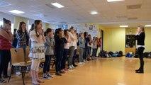 Les élèves du collège des Dentelliers se préparent pour leur spectacle au château d'Hardelot