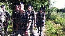 Eleves et fusiliers marins dans les pas du commando Kieffer