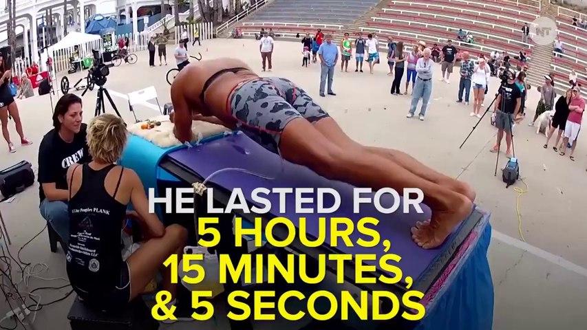 Un ancien marine bat le record du monde de gainage (5h15mn15s)