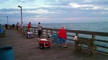 Seaview Pier - Sea Mullet Fishing 3-21-2012 - North Topsail Beach, NC