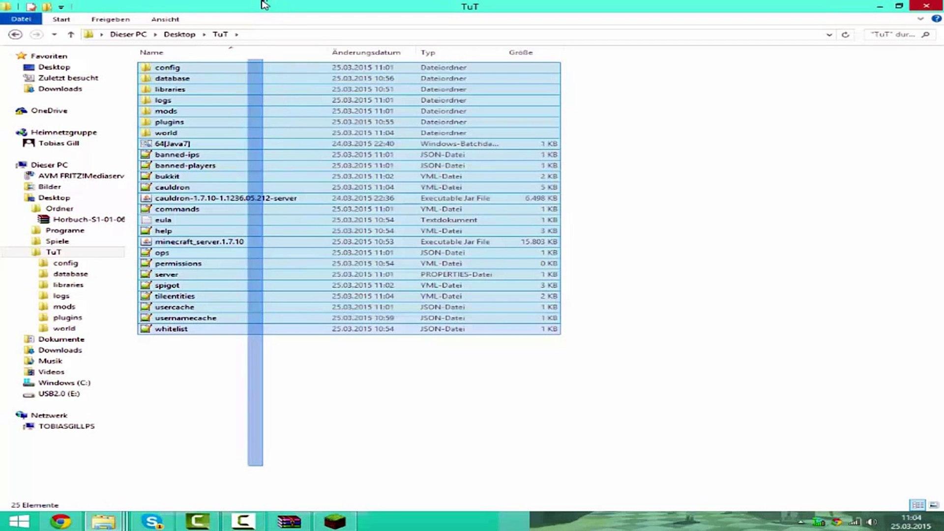 Minecraft Bukkit Server Mit Mods 1 7 10 Cauldron Mcpc