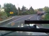 traileros  viaje de manzana,subiendo tieton hill traileros