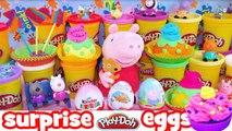 Kinder surprise eggs - Peppa pig kinder surprise eggs disney frozen play doh barbie dora c