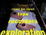 Miny Tape Recorder Abuse Recovery - 2 Miny 401 Pink Tape Recorders