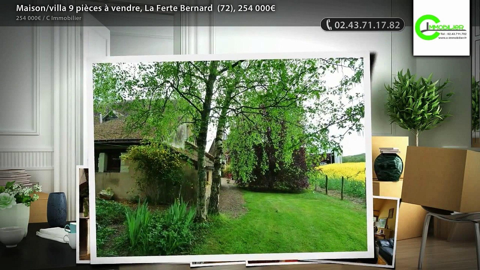 Maison/villa 9 pièces à vendre, La Ferte Bernard  (72), 254 000€