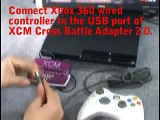 XCM Cross Battle Adapter 2.0 works on PlayStation 3 Slim - Xbox 360 controller on PS3