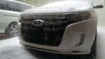 Quantité impressionnante de grêlons pendant un orage à Gatlinburg, Tennessee