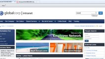 Intranet DASHBOARD - Enterprise Search Overview