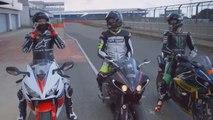 Moto GP Riders Testing Yamaha R1,Honda CBR,Ducati Panigale