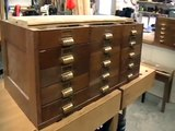 Tool Cabinet Chest For Chisels Woodworking Tools - White Oak With 30 Drawers Antique Repairs - #2