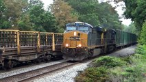 CSX Trash Train Meets The Rail Train