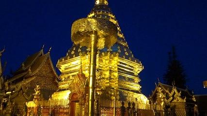 Superbe temple Bouddiste pres de Chiang Mai