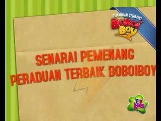 Senarai Pemenang 'Peraduan Terbaik BoBoiBoy'