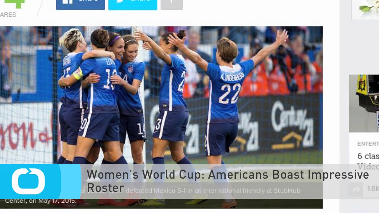 Women's World Cup: Americans Boast Impressive Roster