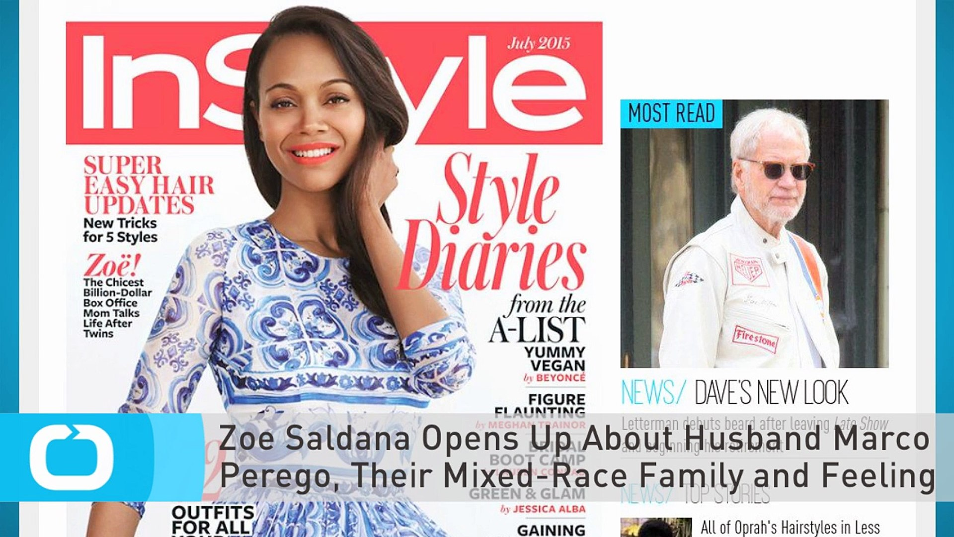 Zoe Saldana Opens Up About Husband Marco Perego Their Mixed Race Family And Feeling