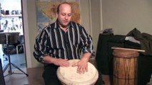 How To Play West African Drums : Playing Tone Sounds on Djembe African Drums