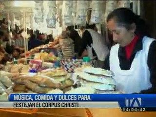 Música, comida y dulces para festejar el Corpus Christi