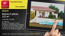A vendre - maison - LANTON (33138) - 5 pièces - 122m²