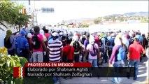 Indignados manifestantes queman sede del gobierno local en México