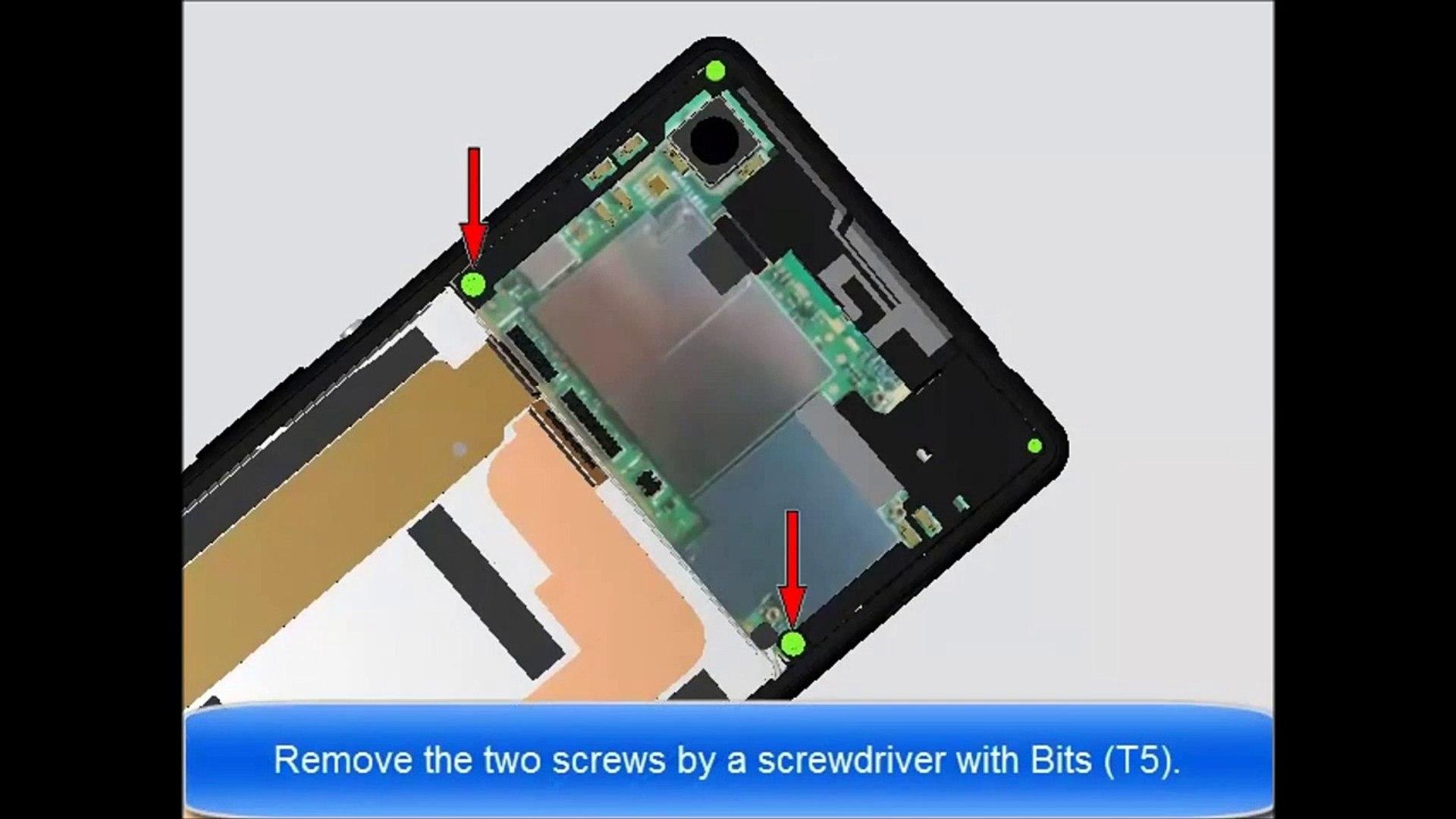 Sony Xperia M4 Aqua & M4 Aqua dual E2303 / E2306 / E2312 / E2333 /  E2353/E2363 disassembly / repair