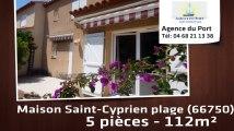 A vendre - maison/villa - Saint-Cyprien plage (66750) - 5 pièces - 112m²