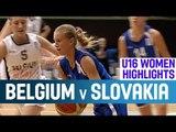 Belgium v Slovakia- Highlights -1st Round -2014 U16 European Championship Women