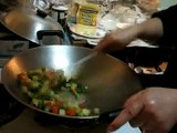 Cantonese Kitchen -Chinese Cooking- Chow Lup Nup with chicken, pork & vegetables stir fried in a wok