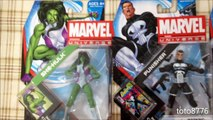 Scarlet Witch, Kang, She-Hulk, Punisher, Spider-Man - Marvel Universe Wave 19
