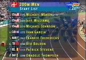 Michael Johnson 200 meters WR 19.32  Atlanta 96 Olympics - High Quality