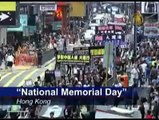 Hong Kong Residents March for Human Rights in China on 60th Anniversary of Communist China