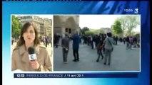 Interdiction, burka, niqab , révélations, les JT de la mi journée du 11 avril 2011