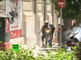 Athens riots video: New round of clashes, stones & tear gas in Greece