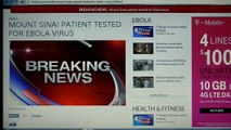 Man Back From West Africa With Ebola Symptoms Being Tested For Ebola Virus In New York