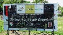 Opzetten strobalen fiets voor Tour De France / Geervliet 2015